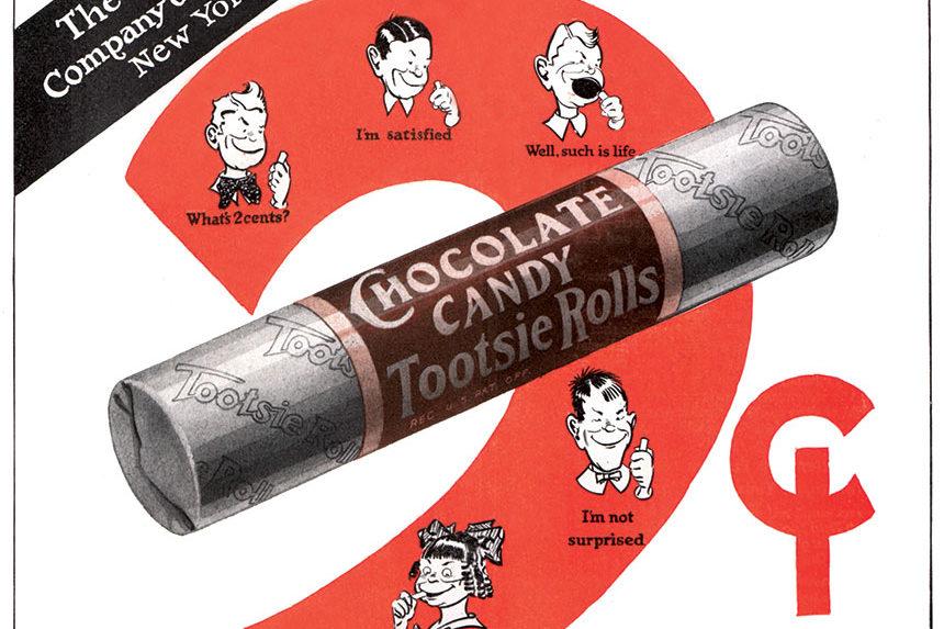 Vintage Tootsie Roll ad