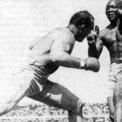 Fight between Jack Johnson and Jim Jeffries