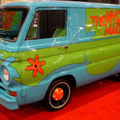 A real life model of the Scooby Doo Mystery Machine van