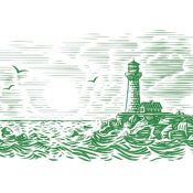 Illustration of a lighthouse