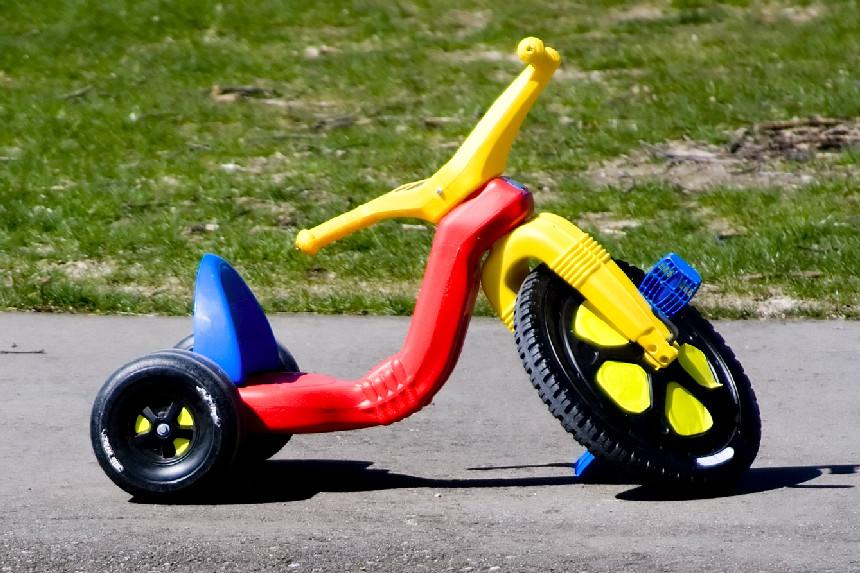 A Big Wheels tricycle