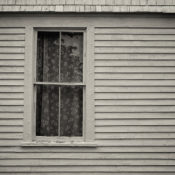 A window on an old house