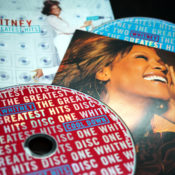 Photo of the Whitney Houston Greatest Hits CD collection