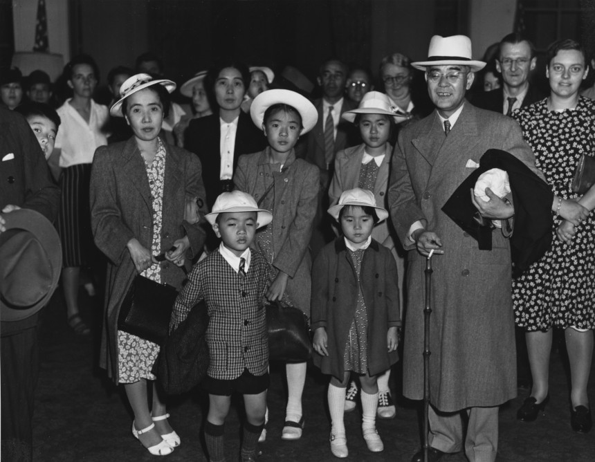Japanese diplomats and their families when they were interned at the Greenbrier hotel