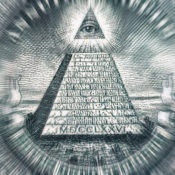 The Eye of Providence on the back of the American dollar bill.