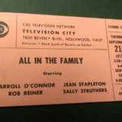 Show ticket for a taping of All in the Family