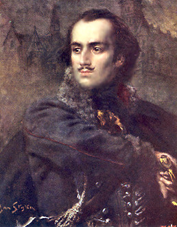 Painted portrait of Casimir Pulaski
