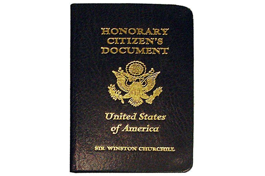 Winston Churchill's Honorary U.S. Citizen's Document