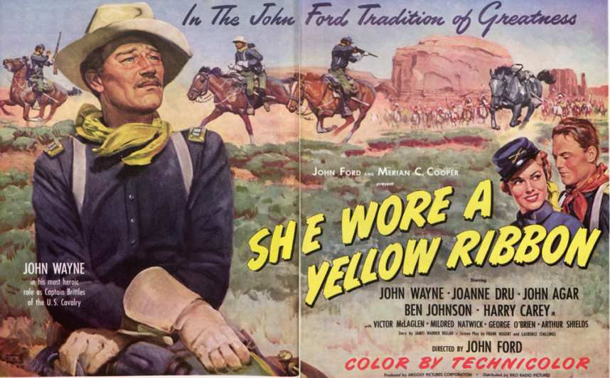 She wore a yellow ribbon movie ad