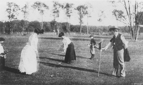 Women golfers at the 1900 olympics