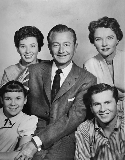 """The cast of the television sitcom Father Knows Best"""""""