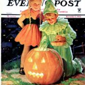 Lighting the Pumpkin by Eugene Iverd November 3, 1934