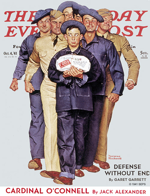 Package from Home by Norman Rockwell