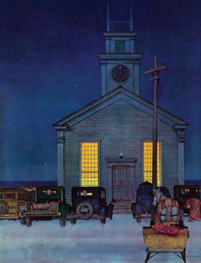 Rural Church at Night, December 30, 1944, Mead Schaeffer