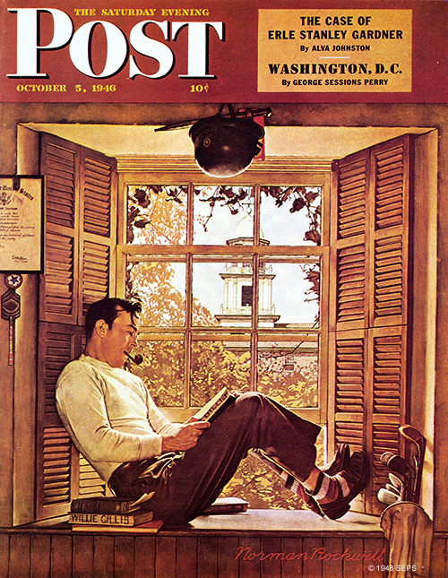 Willie Gillis in College by Norman Rockwell
