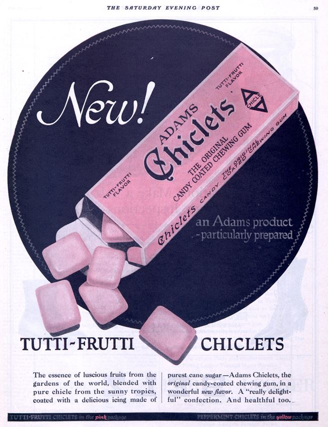 Magazine ad for Chiclets gum
