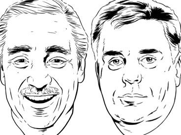 Charles Rangel and James Lacey, Ph.D.