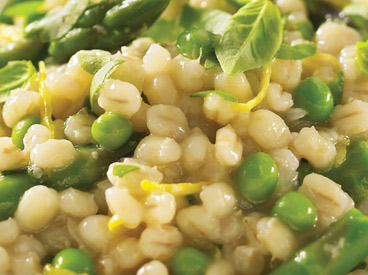 Barley Risotto with Asparagus and Lemon.