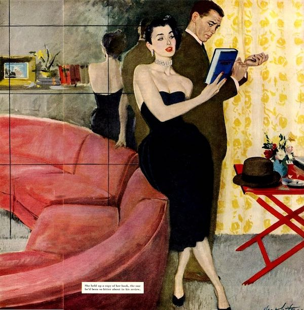 Woman and a man in an apartment