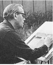 Photo of illustrator Stevan Dohanos