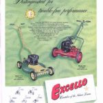 Excello lawn mower ad in The Saturday Evening Post, 1954.