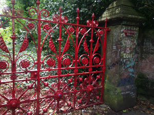 "The gates to Strawberry Fields are a symbol in Liverpool. ""Strawberry Fields Forever"" was named after a Salvation Army children's home behind John's childhood home."