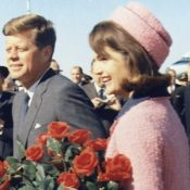 John F. Kennedy and Jackie Kennedy the morning of November 22, 1963