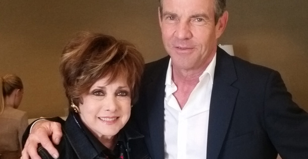 Jeanne Wolf with Dennis Quaid
