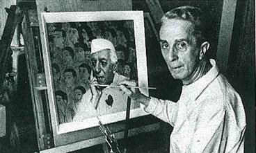 Rockwell Paints Nehru