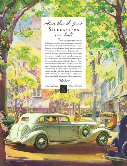 Studebaker Car Ad June 9, 1934