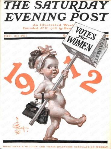 Votes for Women by J.C. Leyendecker from December 30, 1911