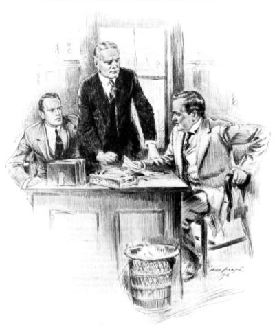Men talking in an office