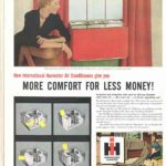 International Harvester air conditioner ad in The Saturday Evening Post, 1954.