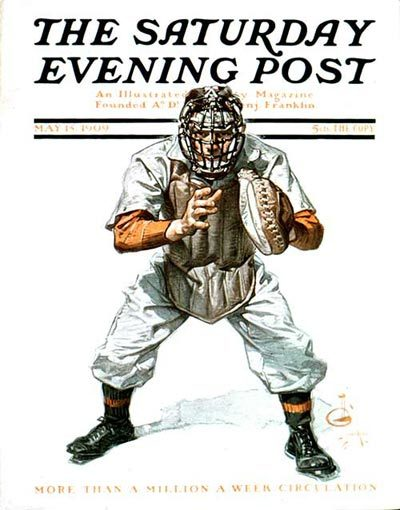 Baseball Catcher from May 15, 1909