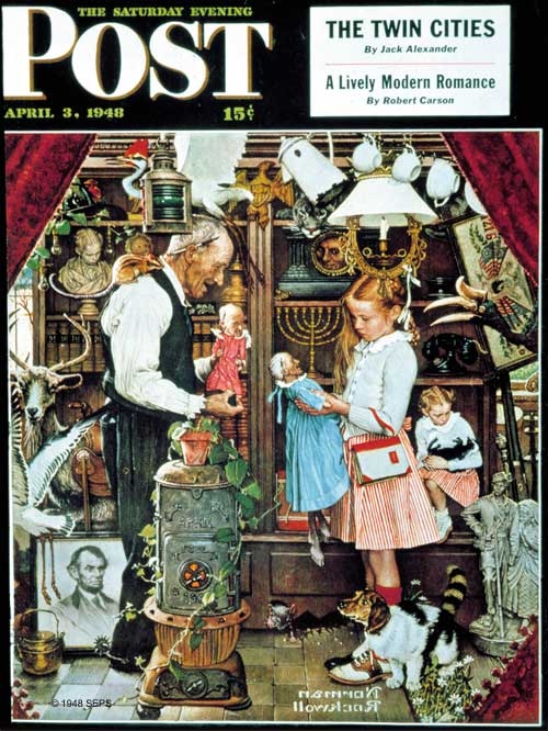 April Fool's 1948 by Norman Rockwell - April 3, 1948