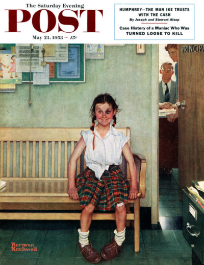 <em>Outside the Principle's Office</em><br />Norman Rockwell<br />May 23, 1953