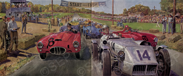 """""""His Finest Race"""", by A. Stanley Kramer,Art by Peter Helck. The Saturday Evening Post, August 17, 1954."""