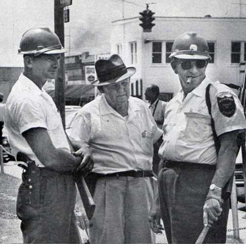 """Lawmen massed in Philadelphia, Miss., to keep order after the trio disappeared."" Photo credit Lynn Pelham. © SEPS 1964"
