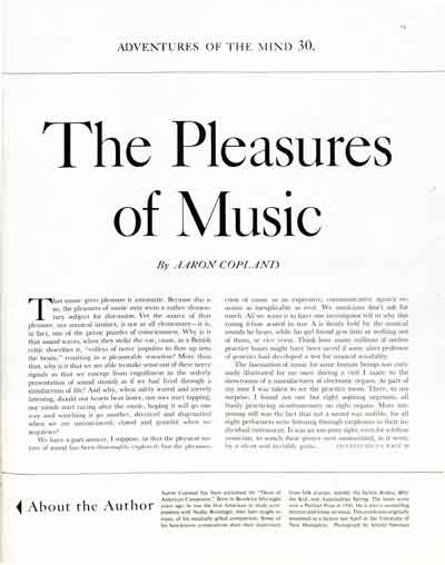 <em>The Pleasures of Music</em><br />by Aaron Copeland