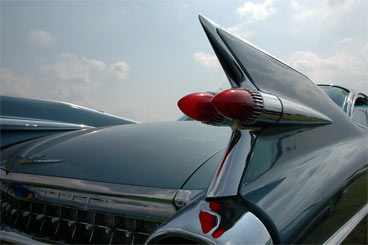 Tail fin on a car