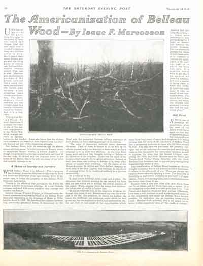 The Americanization of Belleau Wood<br />by Isaac F. Marcosson<br />November 14, 1925