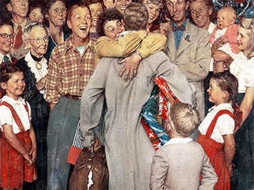 Christmas Homecoming Cast.Rockwell Files The Homecoming The Saturday Evening Post