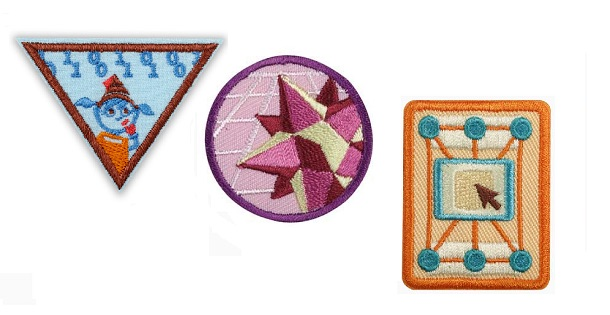 Various girl scout badges