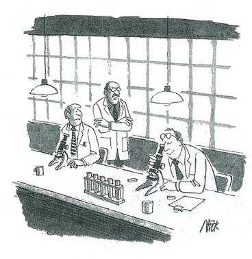 small tv cartoon from Saturday Evening Post October 1985 issue.