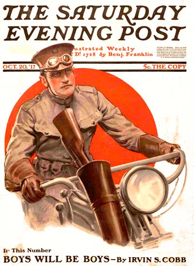 """Soldier on Motorbike""by Lawrence Toney from October 20, 1917"