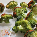 spiced raw broccoli