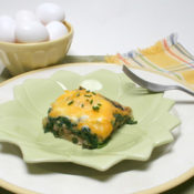Baked Eggs with Mushroom and Spinach