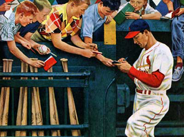 "Stan ""The Man"" Musial, Saturday Evening Post Cover"