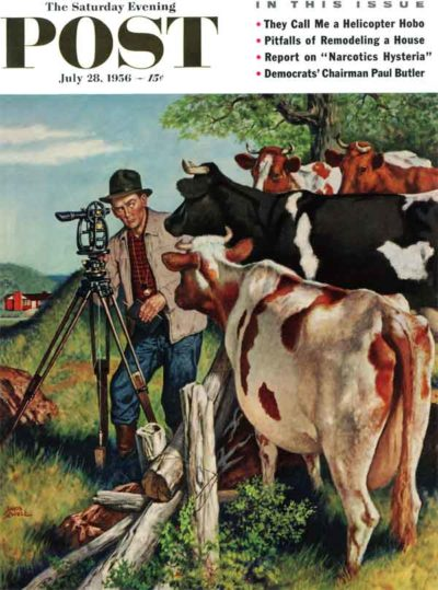 Surveying the Cow Pasture by Amos Sewell July 28, 1956